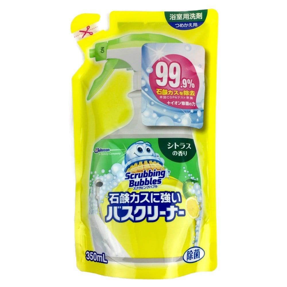 ジョンソン スクラビングバブル 石鹸カスに強いバスクリーナー シトラスの香り 詰替 350ml