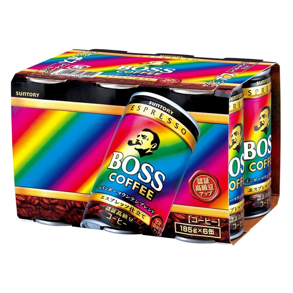 缶コーヒー サントリー BOSS(ボス) レインボーマウンテンブレンド 185g 1箱(30缶)