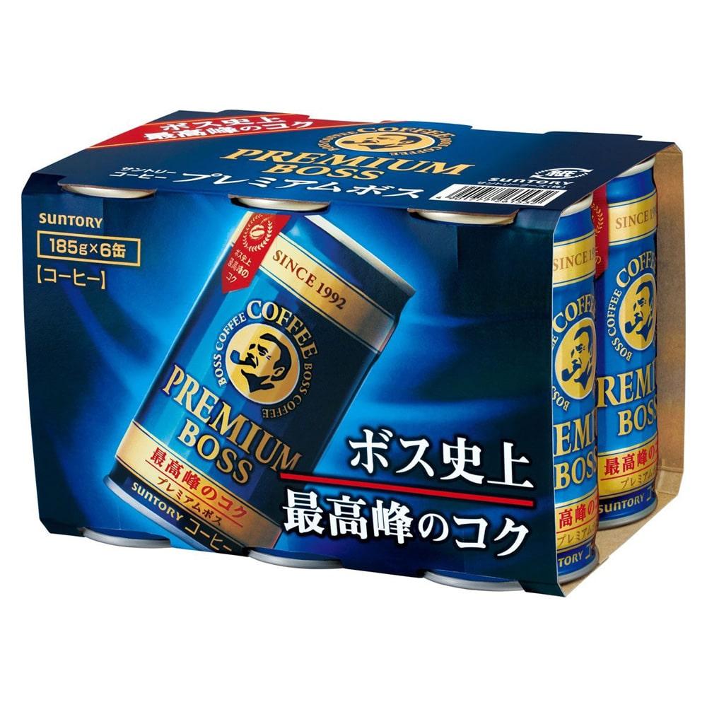 缶コーヒー サントリー プレミアムBOSS(ボス) 185g 1箱(30缶)