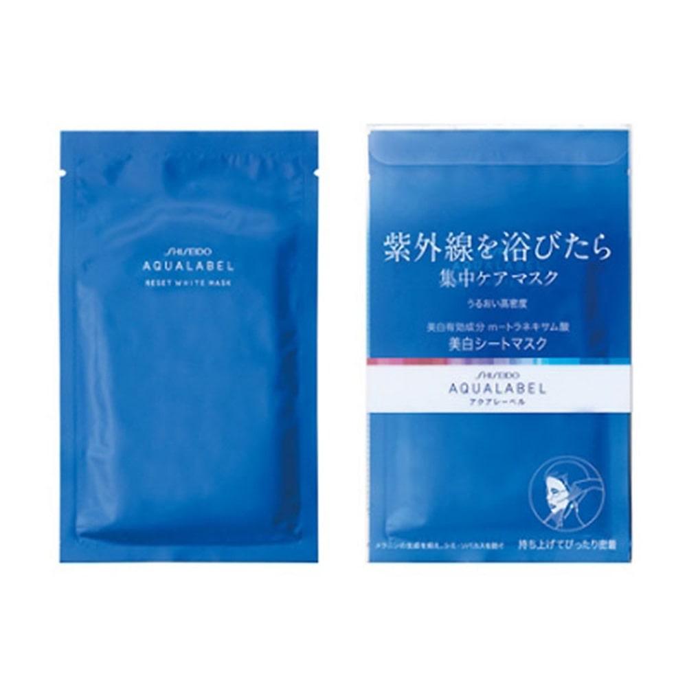 【数量限定】資生堂 アクアレーベル リセットホワイトマスク <4枚入り>