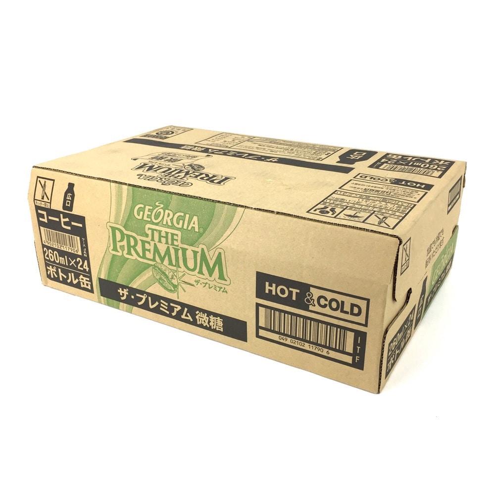 ジョージア ザ・プレミアム 微糖 ボトル缶 260mlx24本