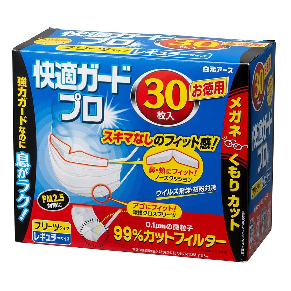 快適ガードプロ プリーツタイプ レギュラーサイズ(30枚入)