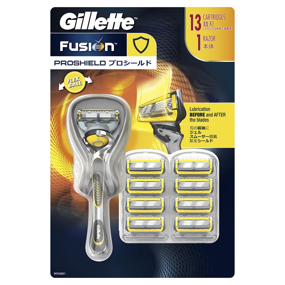 P&G Gillette ジレット プロシールド 替刃12個 ホルダー付
