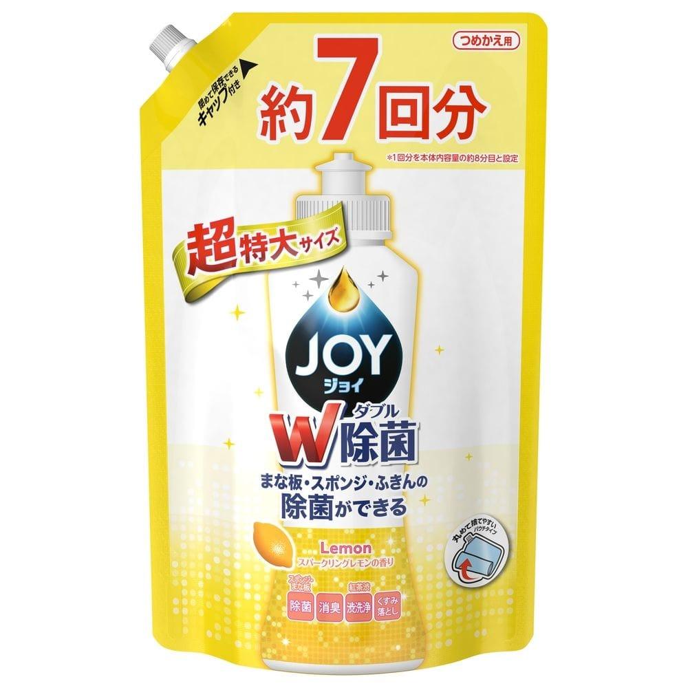 P&G ジョイ コンパクト ダブル除菌 スパークリングレモンの香り 詰替 超特大 1065ml