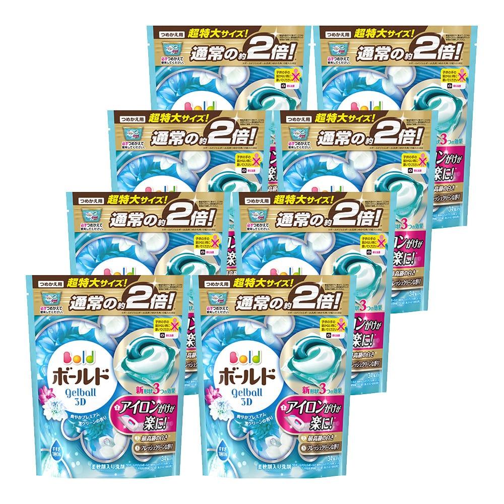 【ケース販売】P&G ボールド ジェルボール3D プレミアムクリーンの香り 詰替34個×8