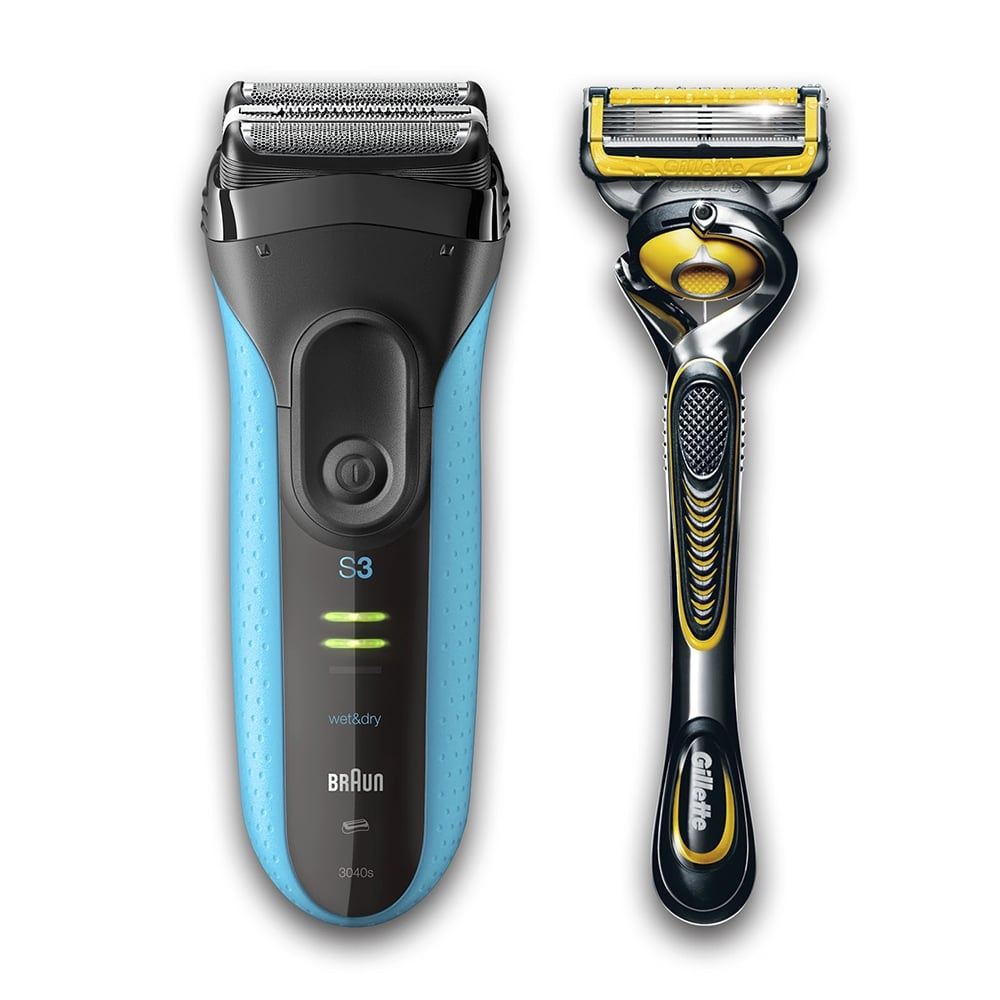 ブラウン BRAUN メンズシェーバー シリーズ3 3枚刃 ブルー お風呂剃り対応 3040s-P1 1台 P&G