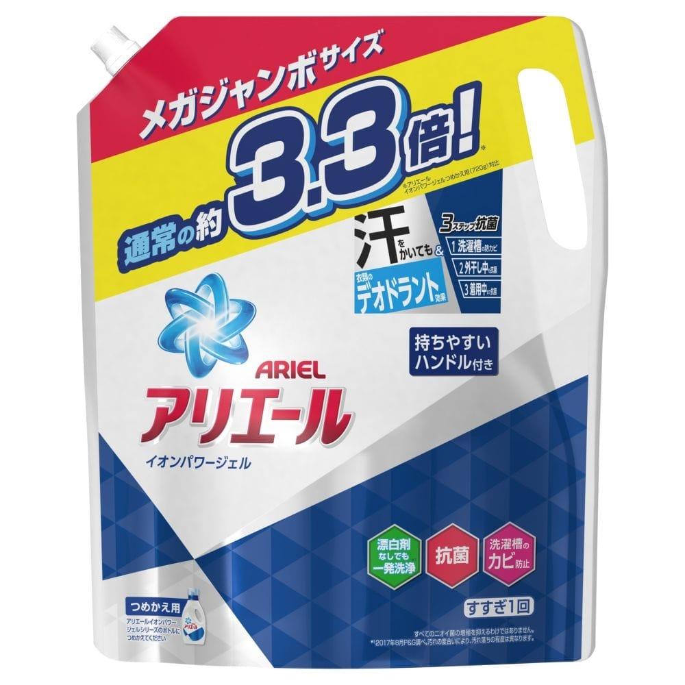 P&G アリエール イオンパワージェル クリアグリーンの香り メガジャンボ 2.4kg