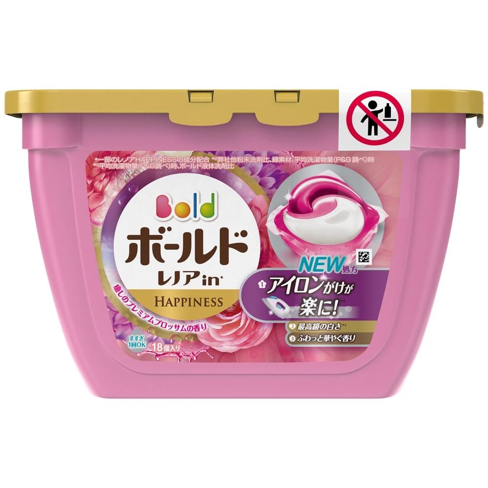 P&G ボールド 洗濯洗剤 ジェルボール3D 癒しのプレミアムブロッサムの香り 本体 18個