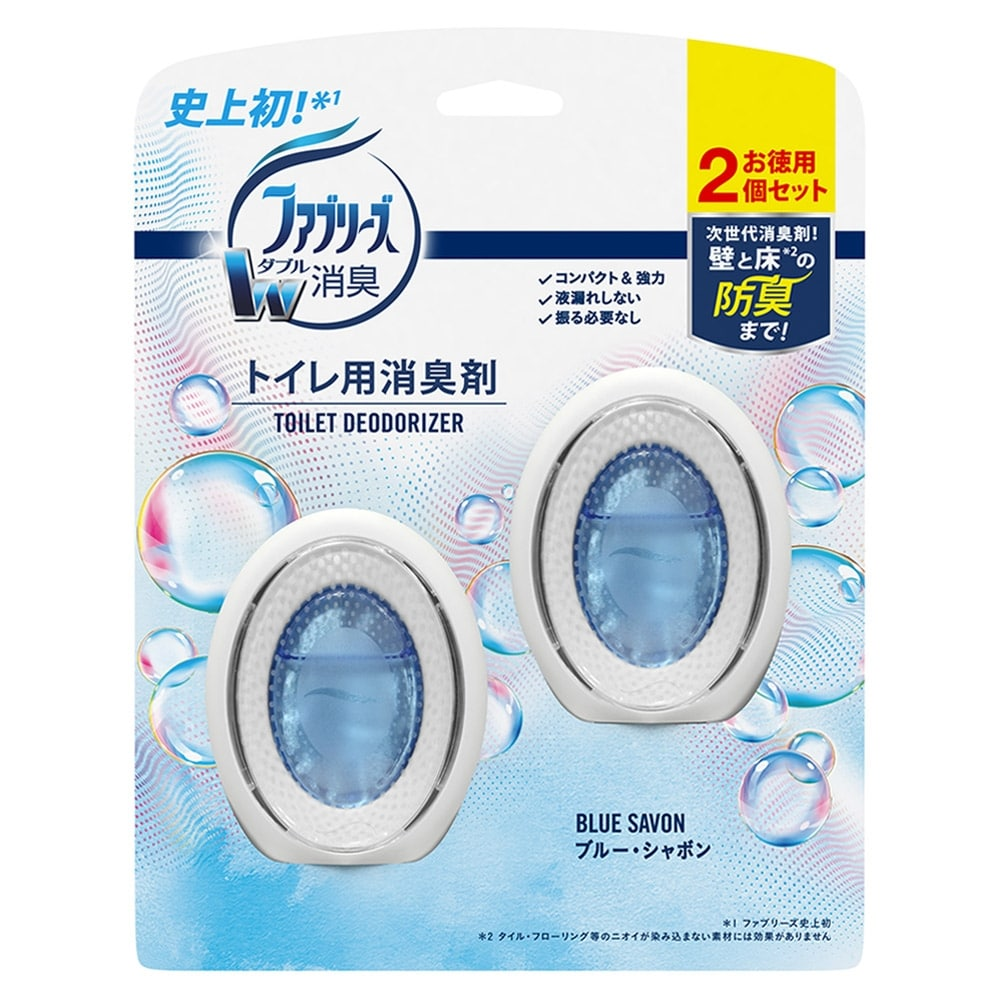 ファブリーズ Wダブル消臭 ブルー・シャボン トイレ用消臭・芳香剤 6ml×2個