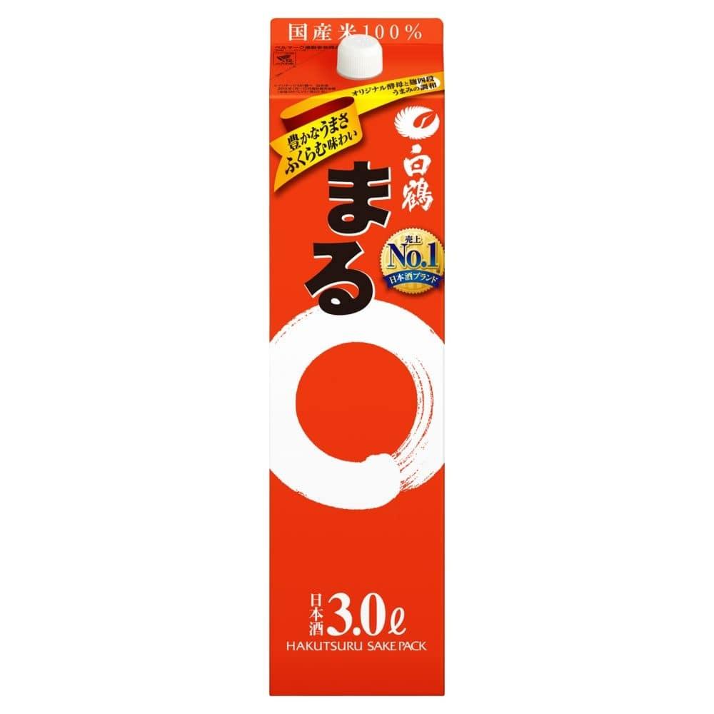 白鶴 サケパック まる 3000ml【別送品】