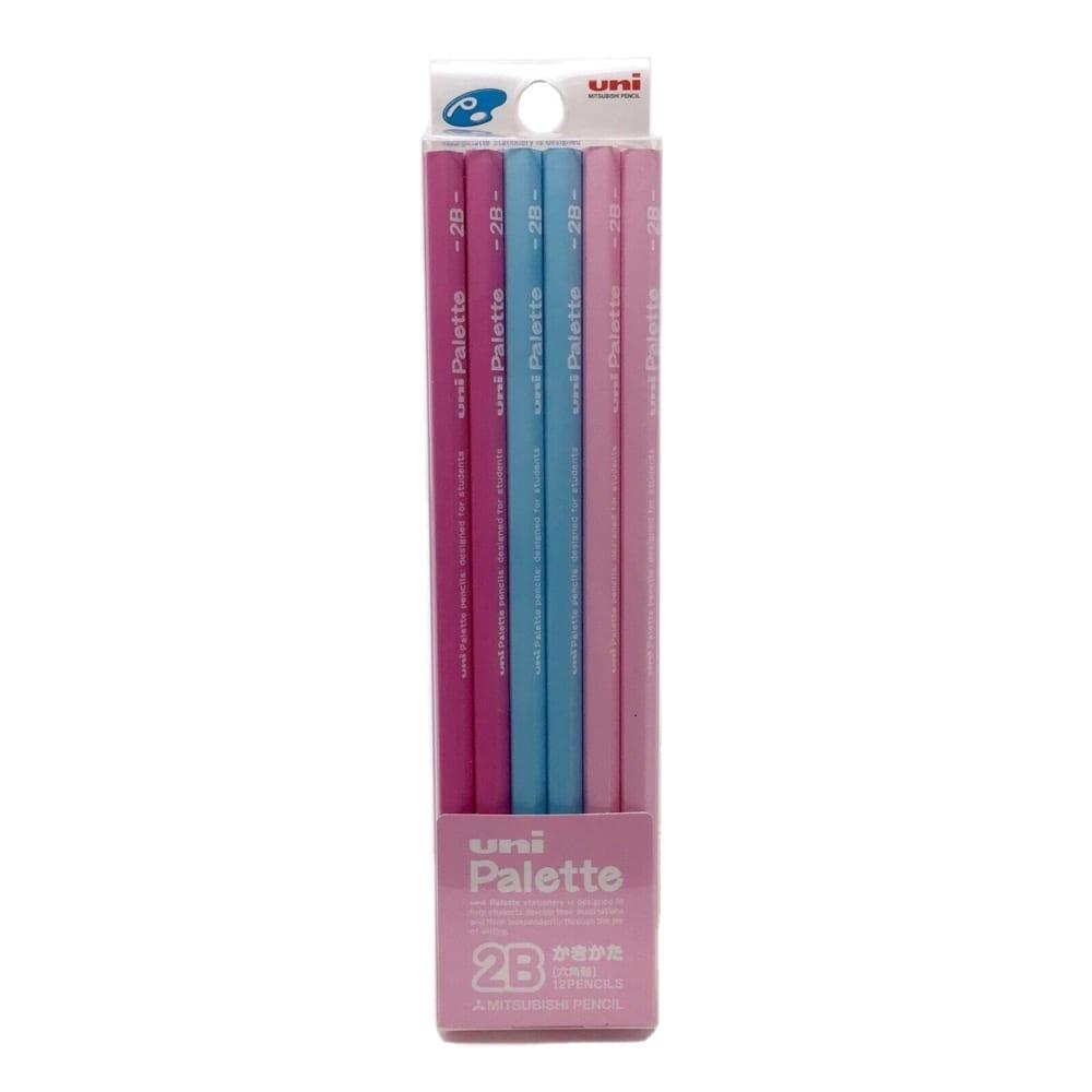 三菱 ユニパレット鉛筆 ダース 2B ピンク