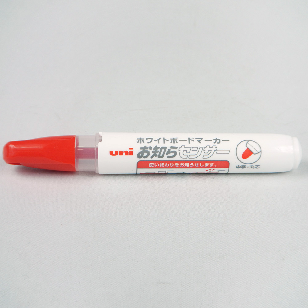 三菱鉛筆(uni) ホワイトボードマーカー お知らセンサー 中字丸芯 赤 PWB1204M