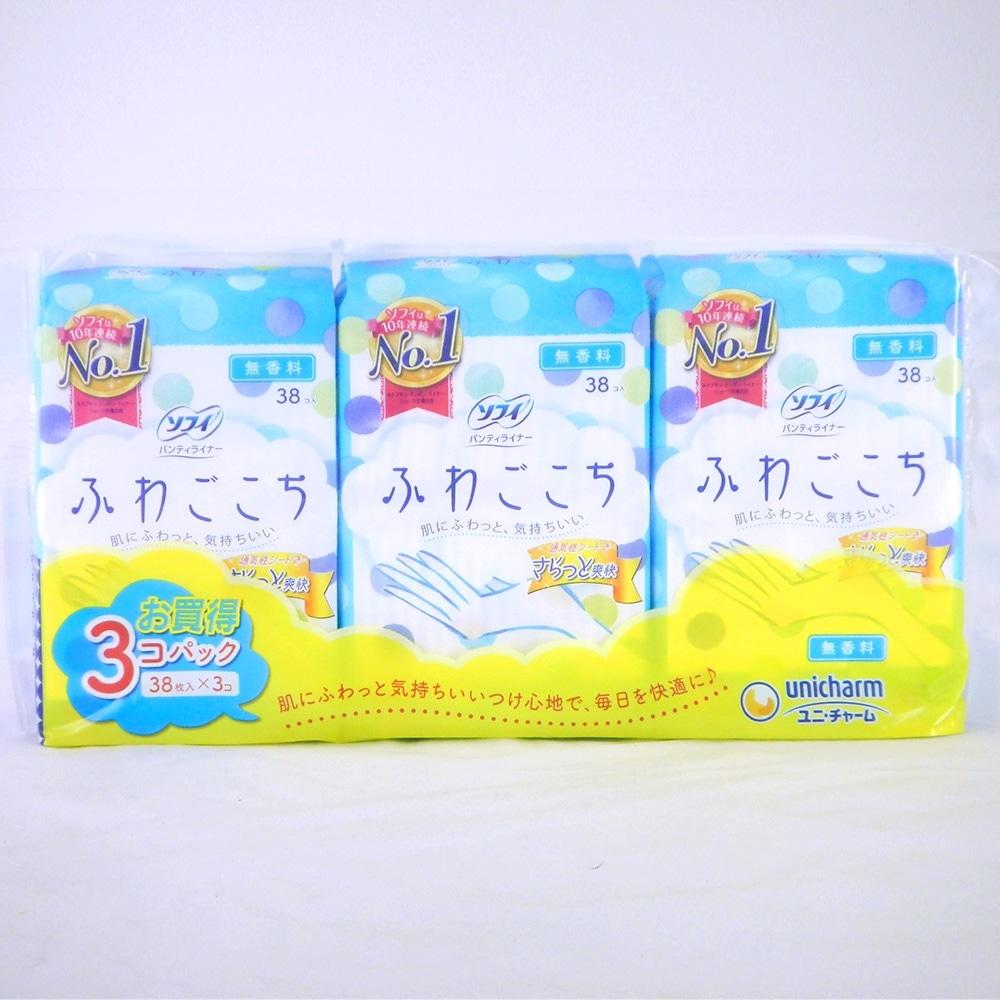 ユニ・チャーム ソフィ ふわごこち 無香料 38枚×3個パック