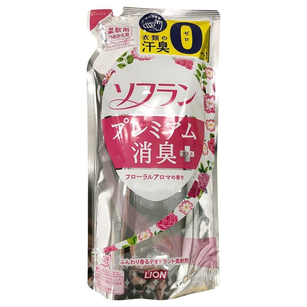 【数量限定】ライオン ソフラン プレミアム消臭プラス フローラルアロマの香り つめかえ 480ml 衣料用柔軟剤