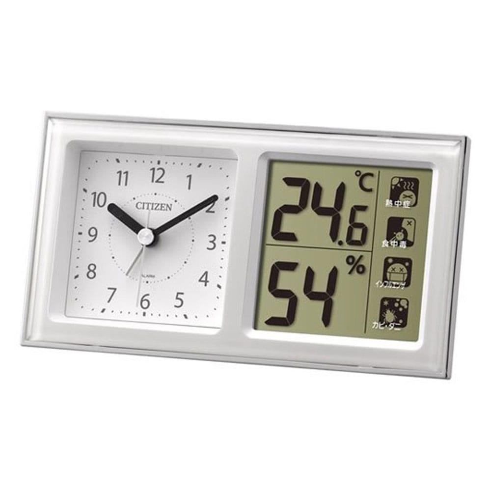 温度湿度計付目覚まし