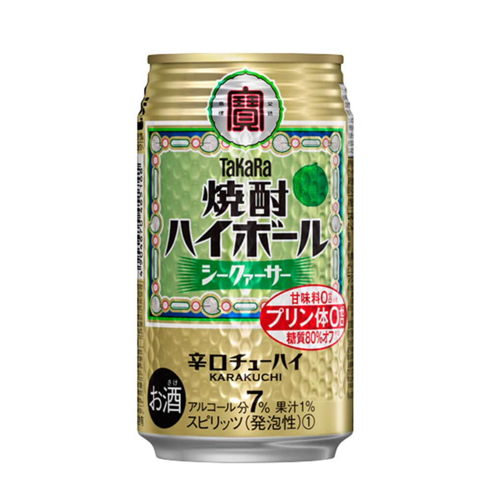 焼酎ハイボール シークァーサー 下町缶春夏Nケース 350X24
