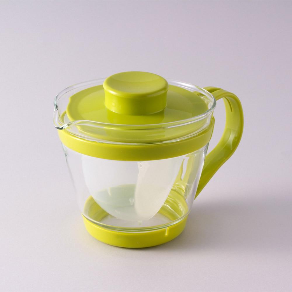 パイレックス レンジのポット 茶器 まっちゃ色 箱1セット