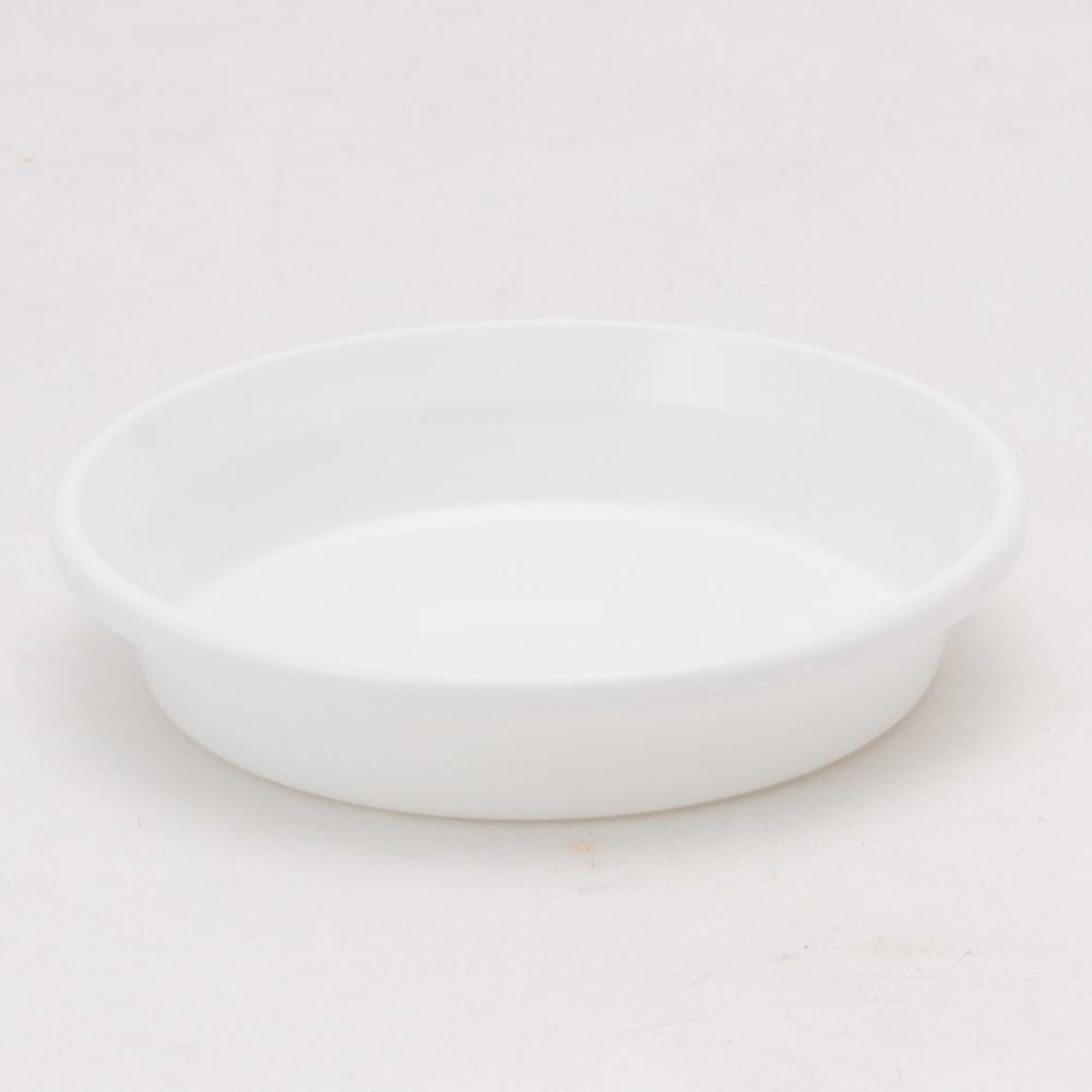 鉢皿F型 5号 ホワイト