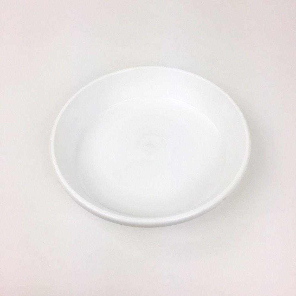 鉢皿F型 6号 ホワイト