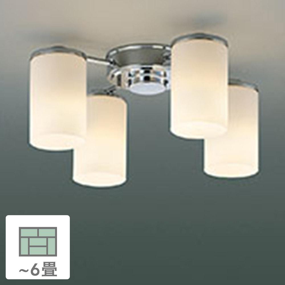 KOIZUMI コイズミ照明 LED電球 非調光 電球色 60形×4灯 6畳用 AA39674L