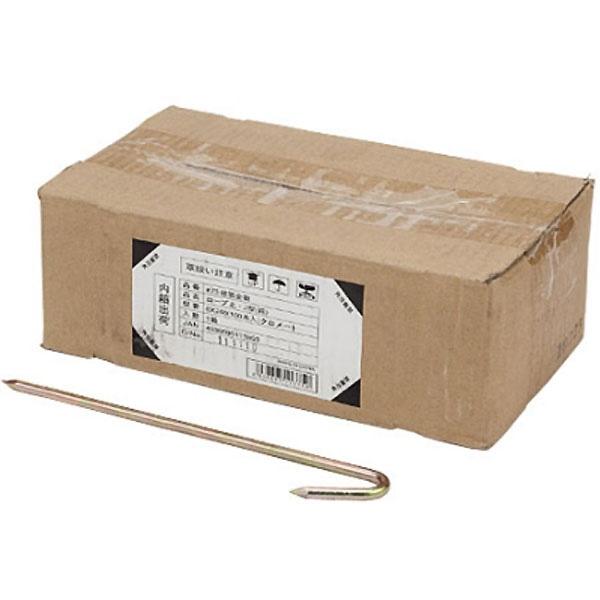 ロープ止J型(箱)6X240(100本入クロ