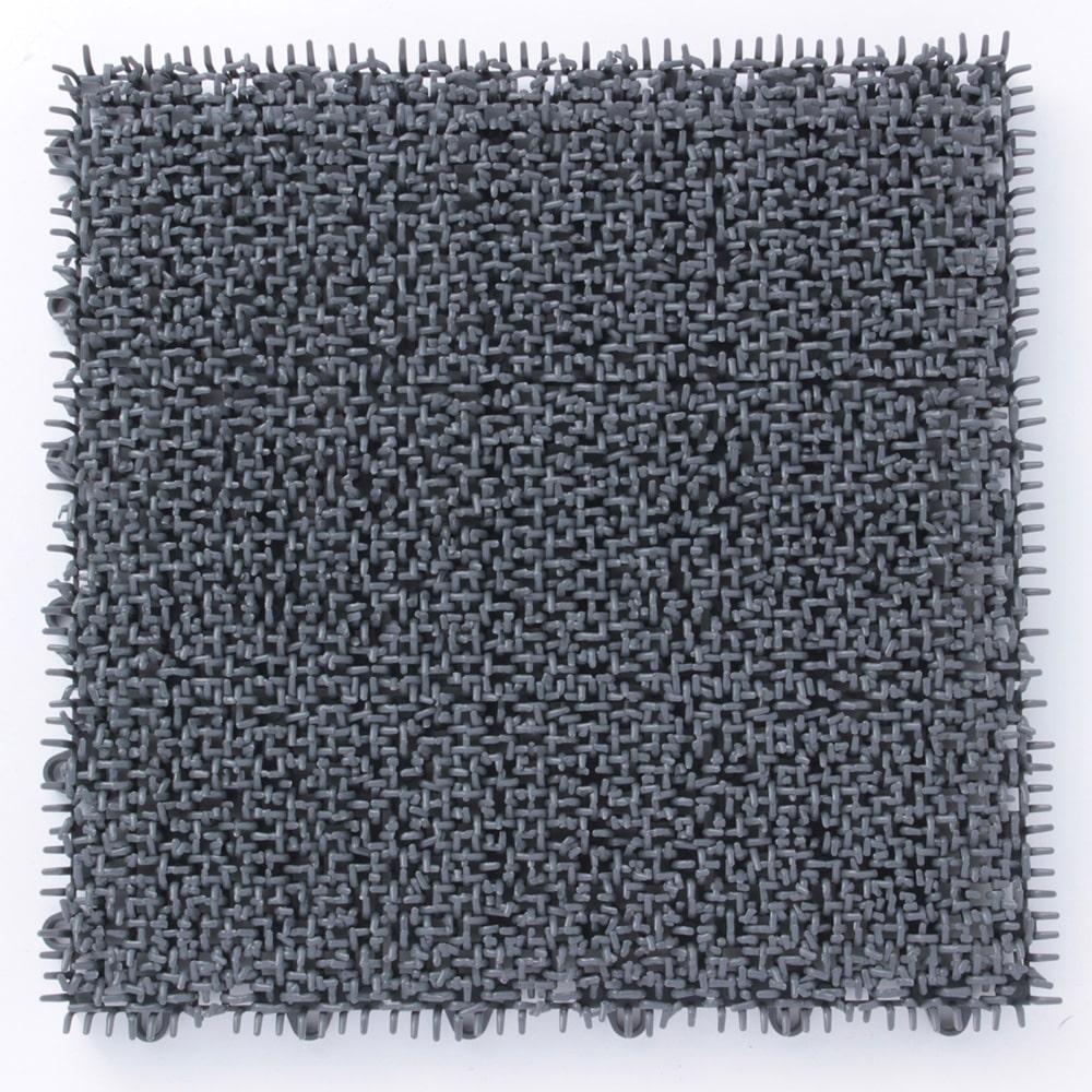 ジョイント人工芝シバックス 30cm×30cm グレー