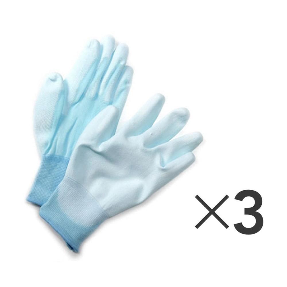 フィット背抜き手袋 3双組 M