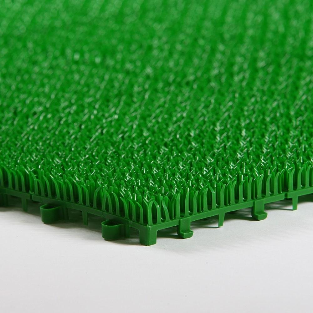 【ケース販売】ジョイント人工芝 30cm×30cm グリーン 18枚入