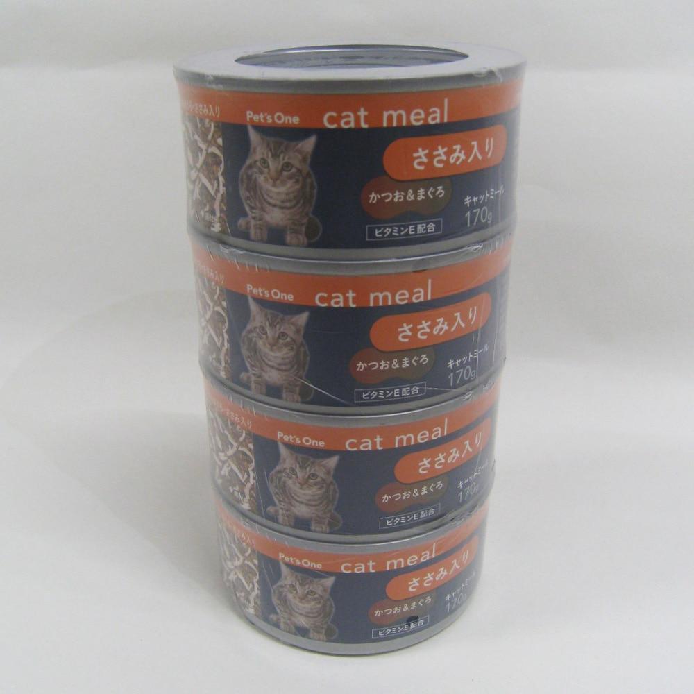 キャットミール かつお&まぐろ ささみ入り 170g 4缶パック