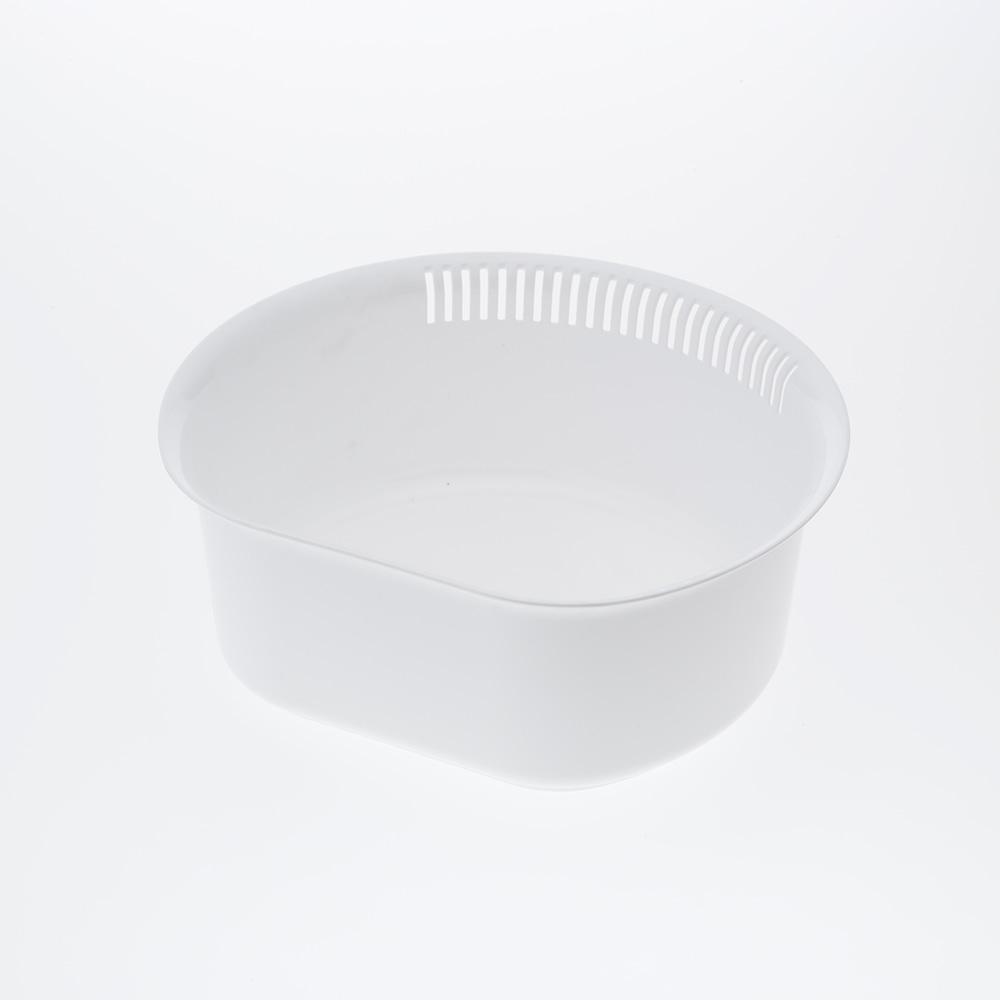 D型洗い桶 ホワイト