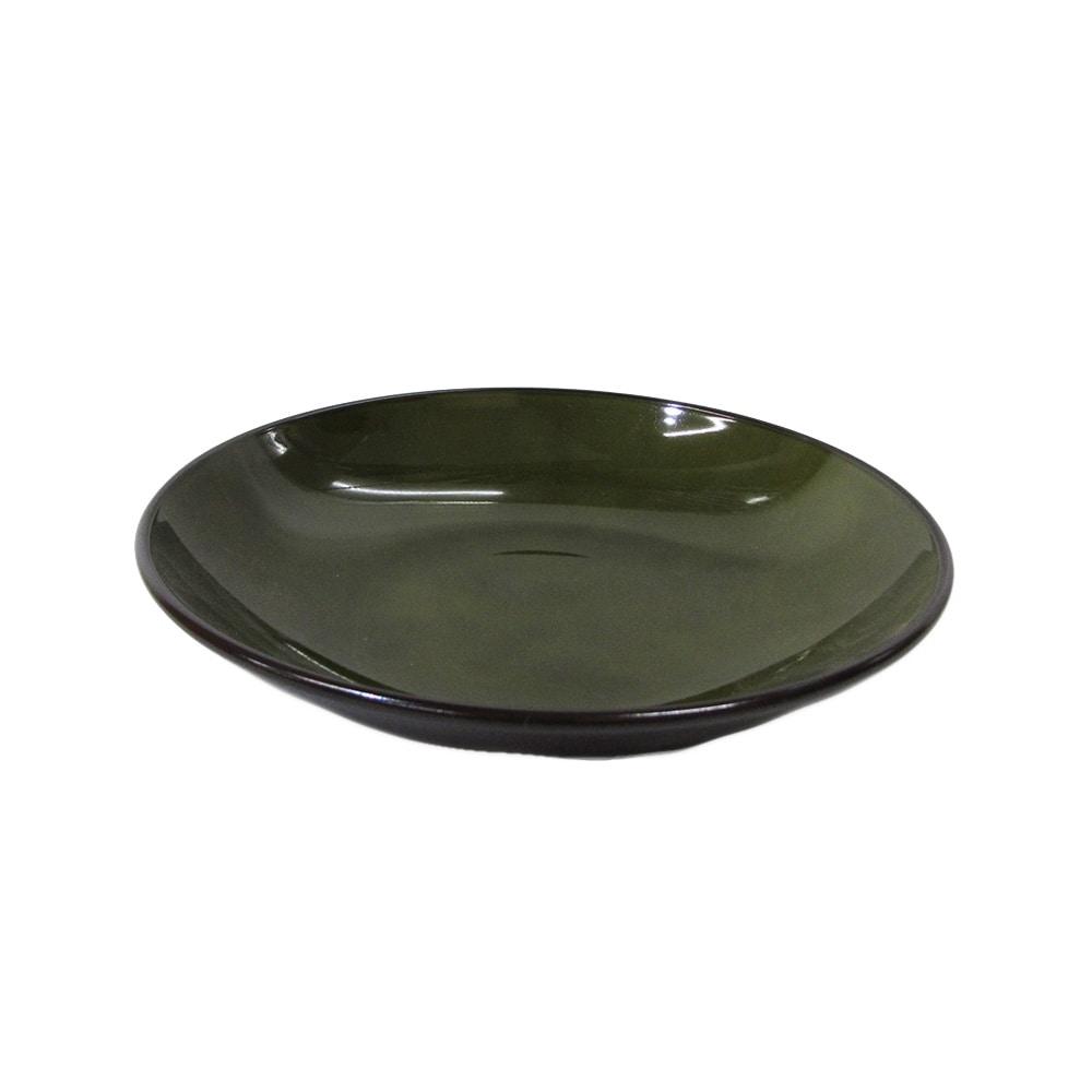 割れにくい軽量皿 23cm 緑