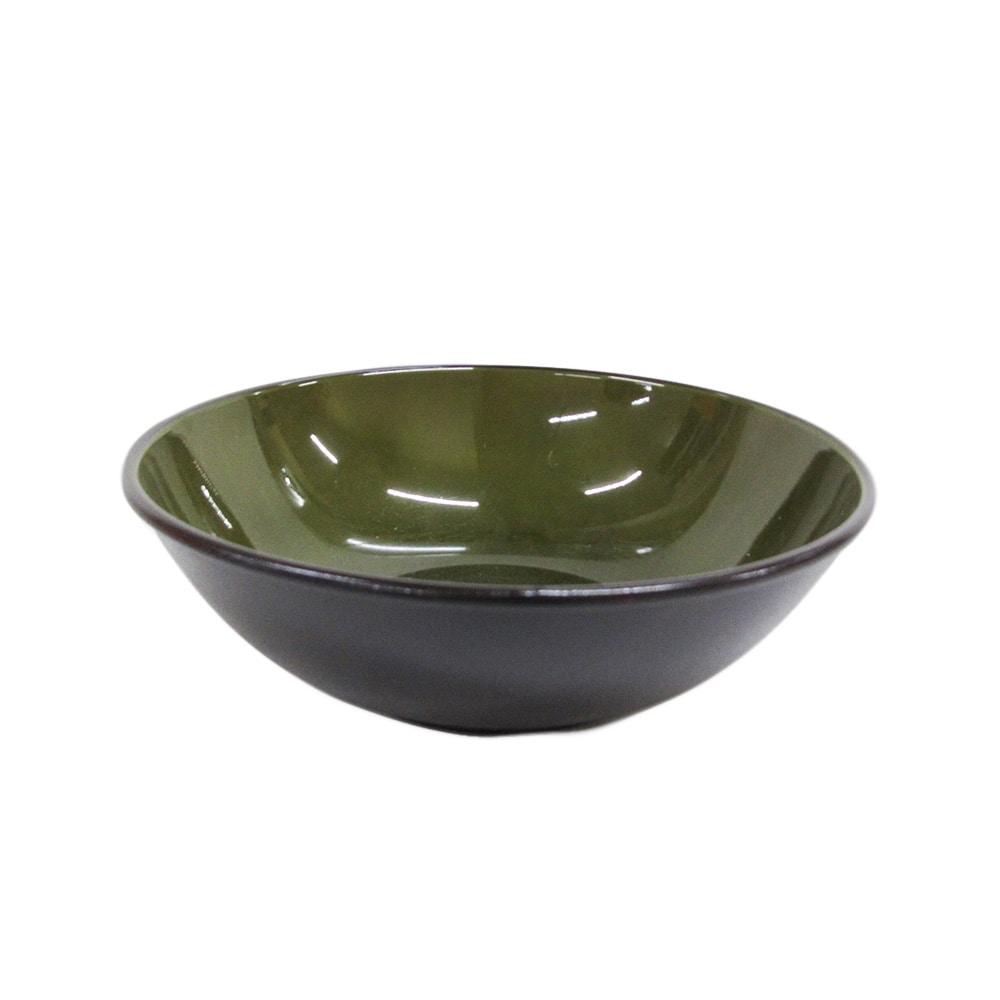 割れにくい軽量鉢 21cm 緑