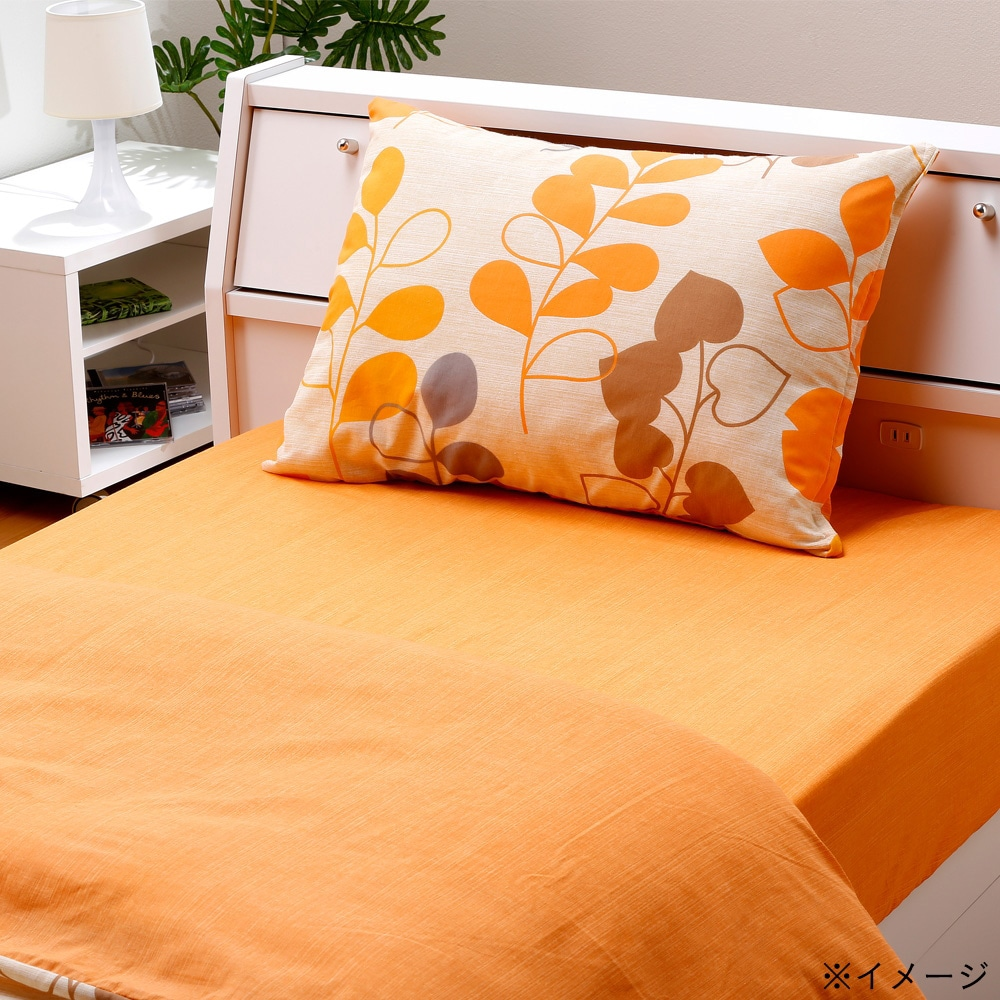ボックスシーツ ミニョン オレンジ シングル 100×200×25(シングル ベッド