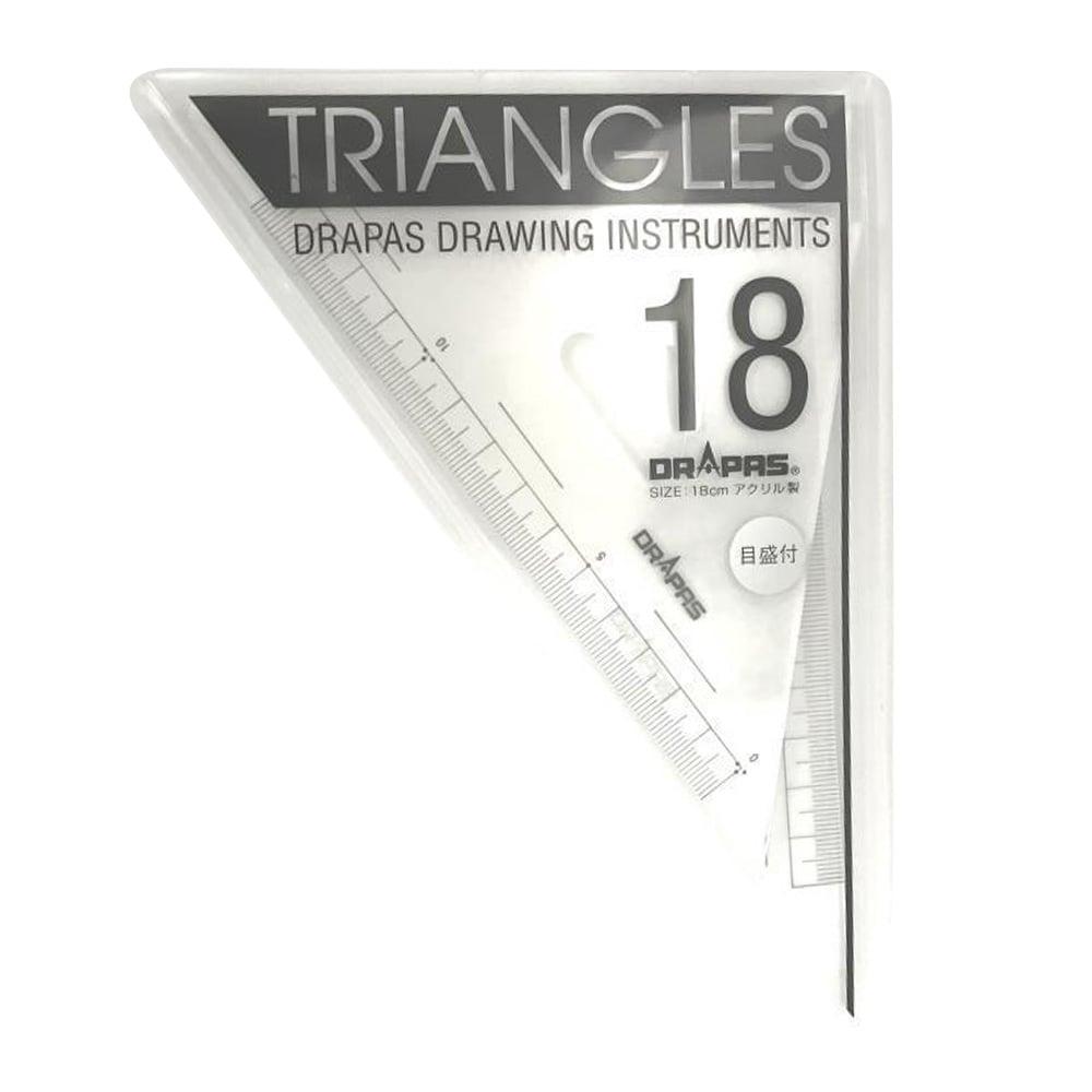三角定規 目盛付18cm No.13-122