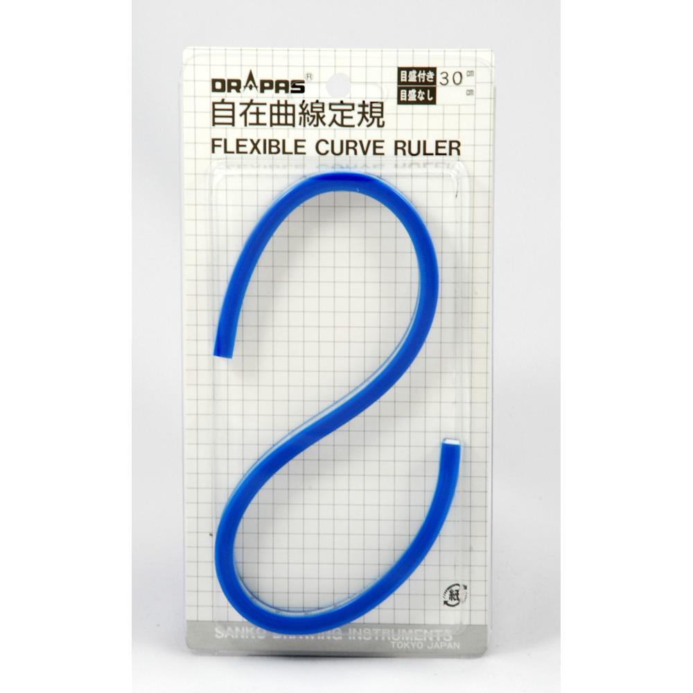 自在曲線定規 目盛付30cm No.14-630