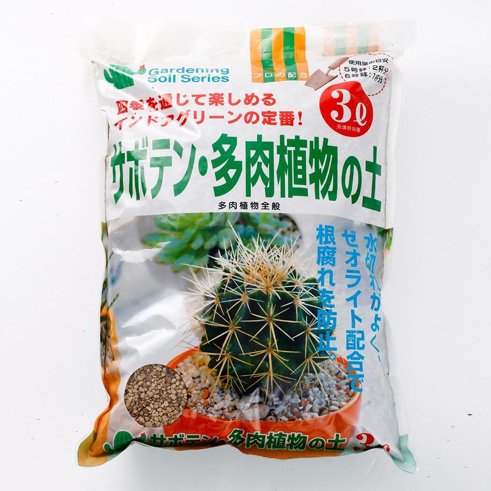 サボテン多肉植物の土3L