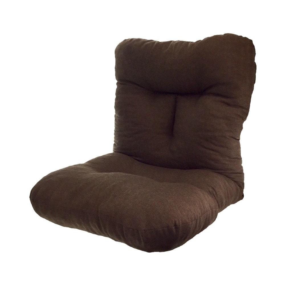 ふんわり座椅子 ブラウン