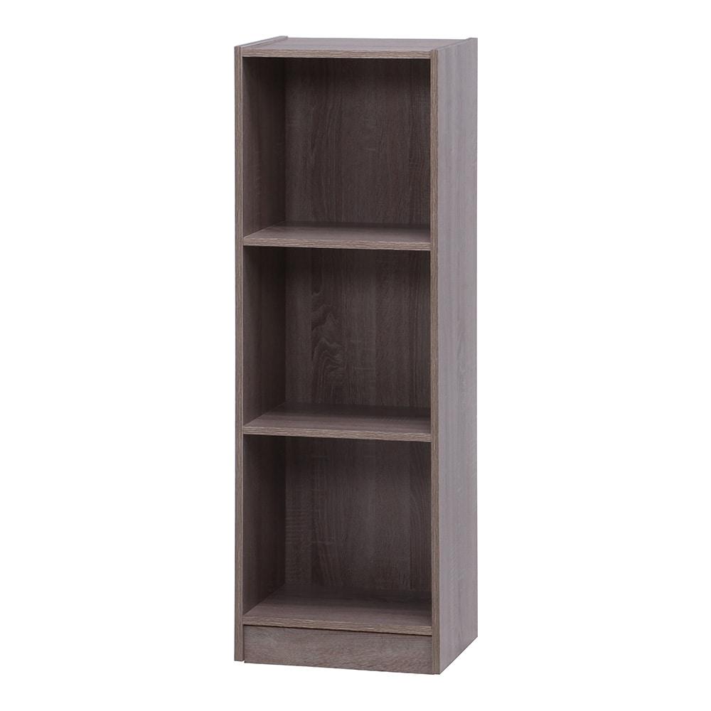組立簡単ボックス3段 A4対応 GY【別送品】