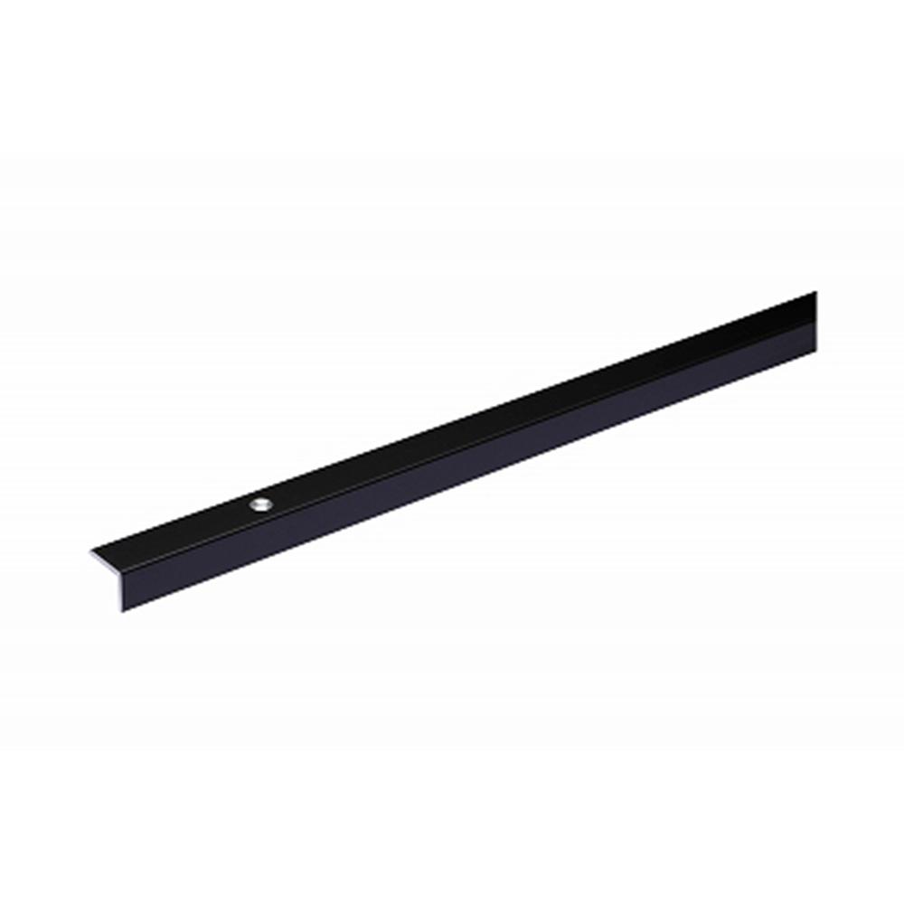 【SU】1485 フロアー材用 Rアングル 穴付 2000 ブラック