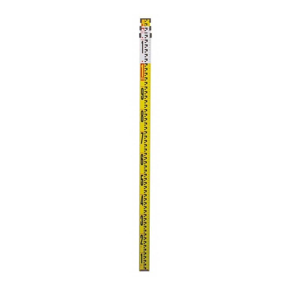 アルミスタッフ  II 3m3段 表面10mmピッチ 裏面1mmピッチ目盛付