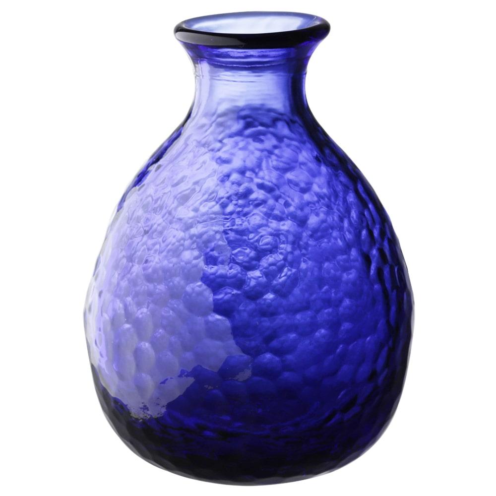 【trv・数量限定】津軽びいどろ 耐熱硝子 徳利 ブルー F−49098