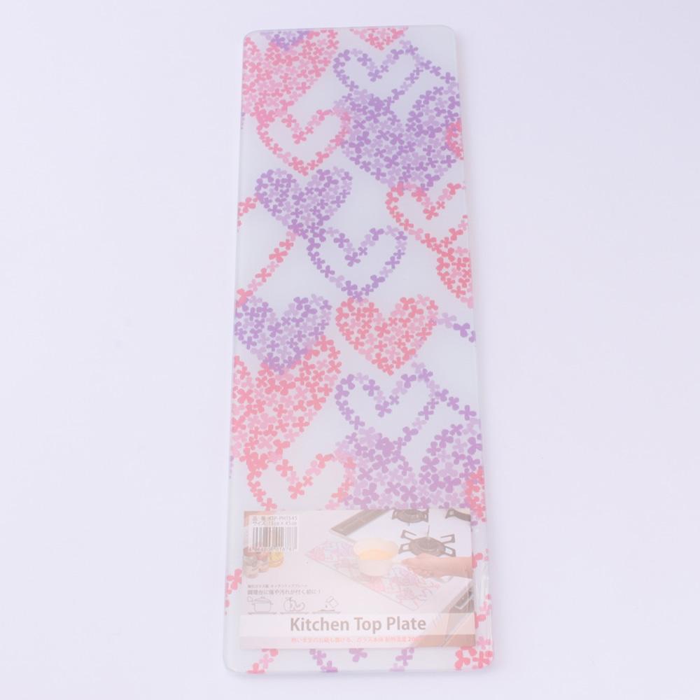 調理用まな板 ピンク 約15×45×0.75cm(0.4cmガラス)
