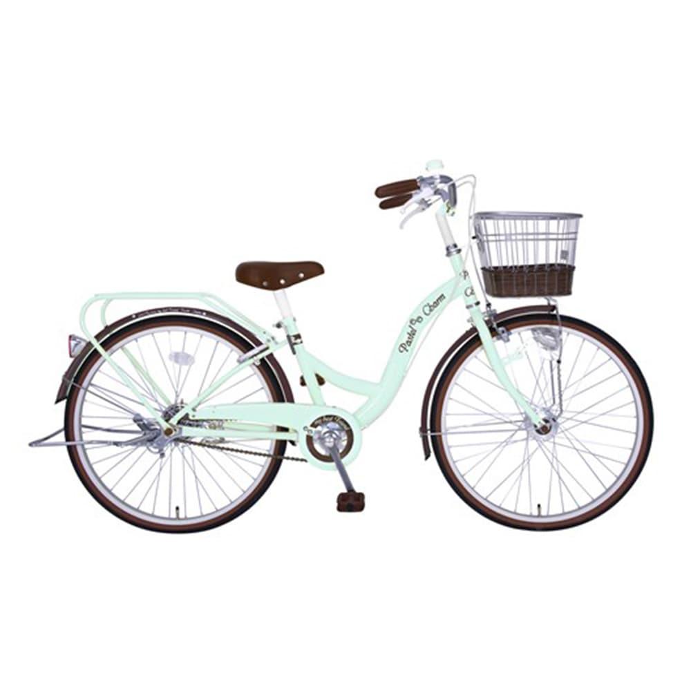 【自転車】【全国配送】パステルチャームHD 24インチ グリーン【別送品】
