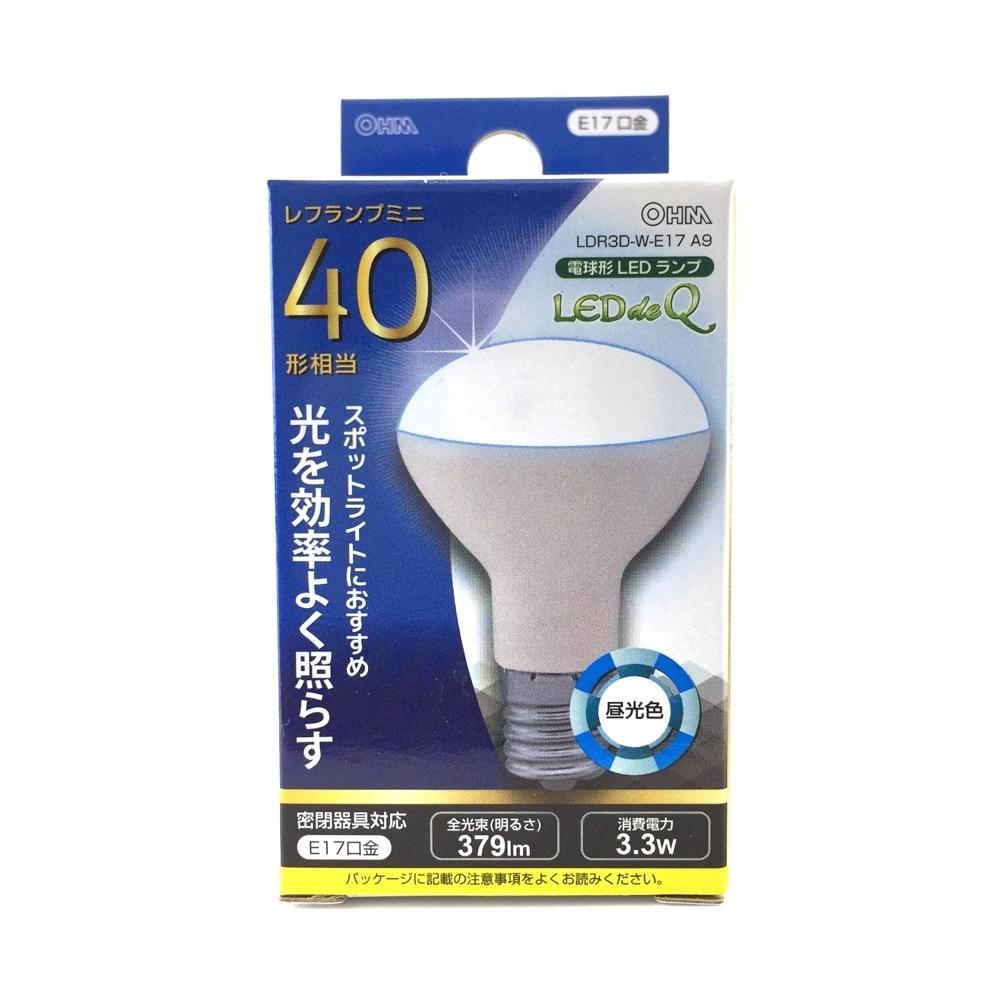 オーム電機 LEDレフ形電球 LDR3D-W-E17A9