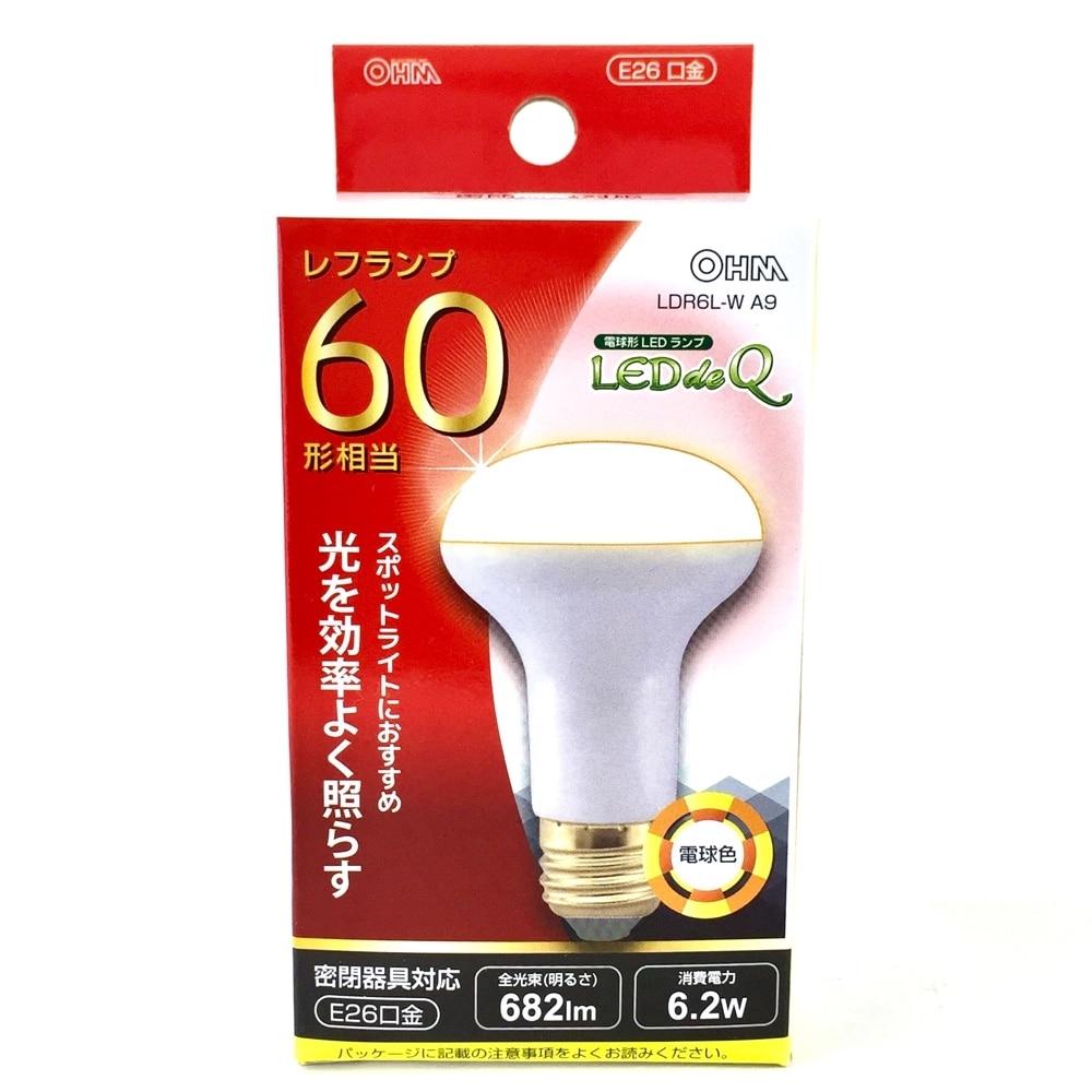 オーム電機 LEDレフ形電球 LDR6L-WA9