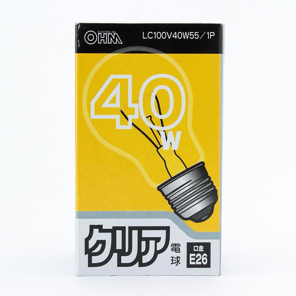 クリア電球40W形LC100V38W