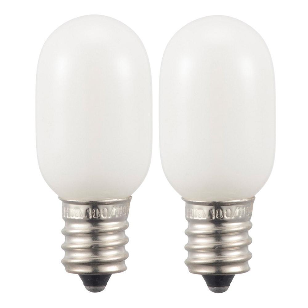 オーム電機 ナツメ球 5W 2個入 LB-T0205W-2PC