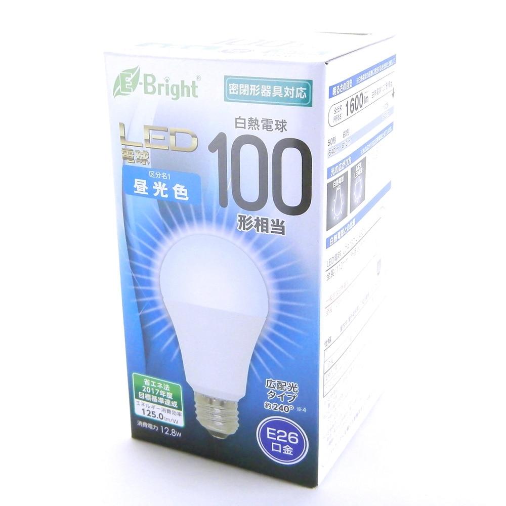 一般電球形 E26 100形相当 昼光色 12.8W 1600lm 広配光 112mm E-Bright 密閉器具対応 LDA13D-G AS25 06-2926