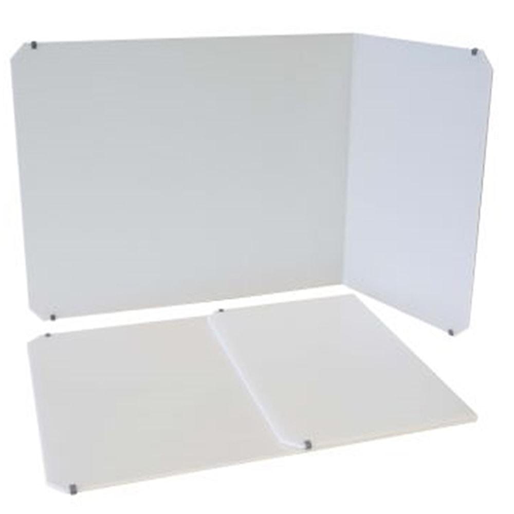 片りたたみ卓上パーティション モバイルウォール片サイド80型