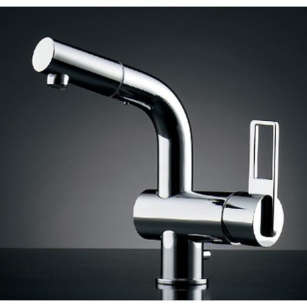 カクダイ シングルレバー混合栓 184-021(引出シャワー・排水上部セット付)【一般地】